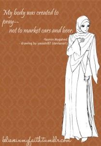 My body was created to pray; Yasmin Mogahed