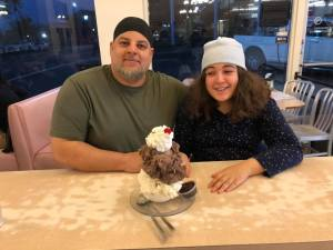 Wael and Salma at Superior Dairy, Hanford California