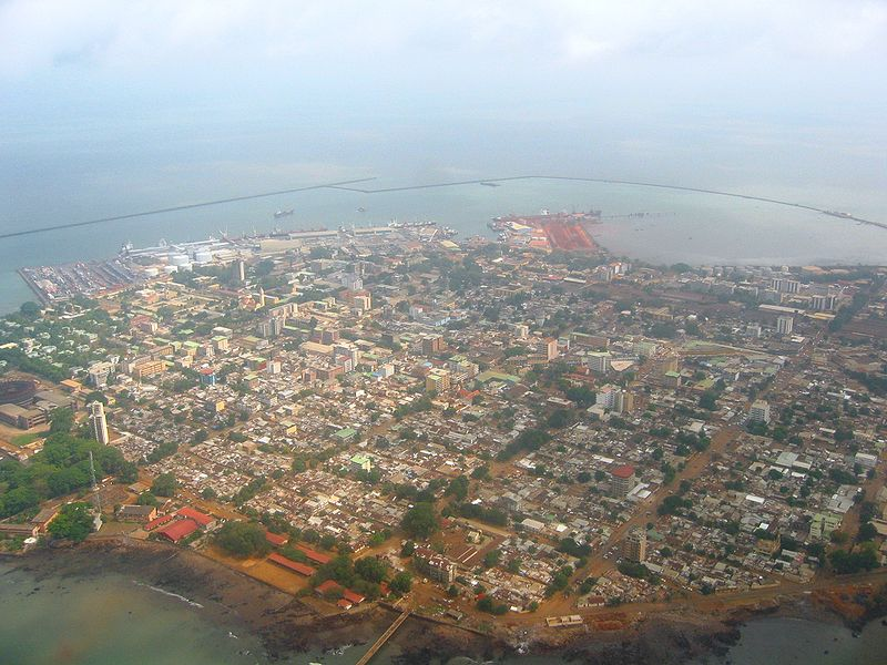 Conakry, capital of Guinea in West Africa