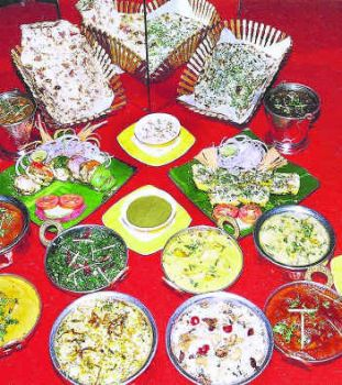 A spread of Kashmiri wazwan dishes