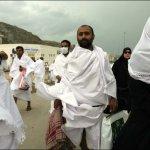 Muslim Hajj pilgrims wearing masks for fear of swine flu