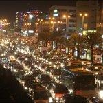 Bumper-to-bumper traffic in Jiddah.