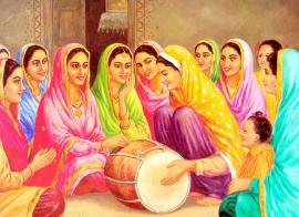 Dholki ladies playing the drum