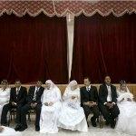 A mass wedding in Idku, Egypt