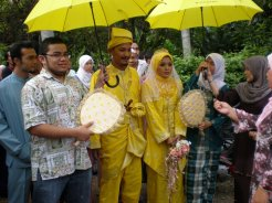 Best man at Malaysian Muslim wedding