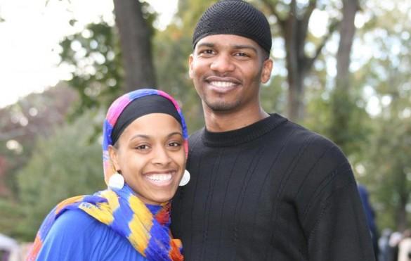 A happy Muslim couple at Muslim Day in Atlanta