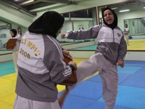 Muslim female martial artist Sara Khoshjamal trains for Beijing Olympics