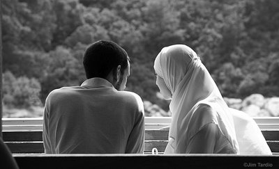 Young Muslim couple