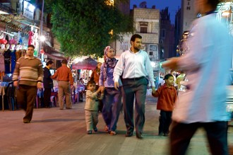 Cairo family strolls