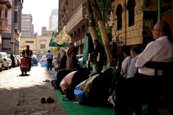 Dhuhr prayer in Cairo