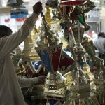 Egyptian man shops for Ramadan lantern