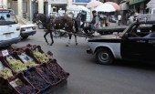 Egyptian man with horse cart