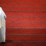 An Indonesian woman prays at the Istiqlal Mosque in Jakarta in Ramadan