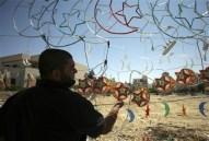 Jordanian street vendor sells Ramadan decorations