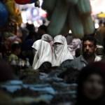 Palestinians shop for Ramadan food