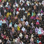 Muslim women offer Eid al-Fitr prayers at the Don Bosco school grounds in the southern Indian city of Chennai