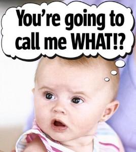 Choosing a baby name.