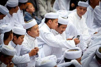 Chinese Muslims waiting for Iftar time.