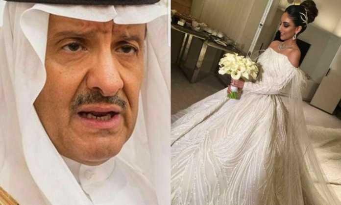Prince Sultan bin Salman and his new bride.