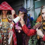 Turkmen wedding ceremony in Iran.
