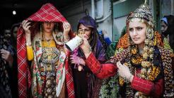 Turkmen wedding ceremony in Iran.
