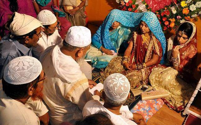 Traditional Muslim wedding in India