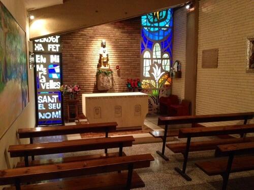 camp nou kapliczka