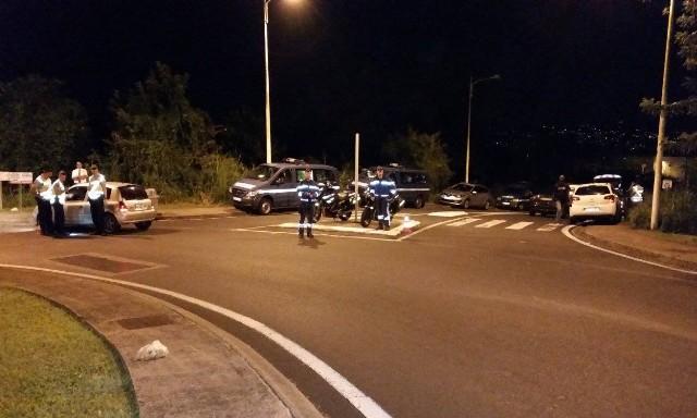Contrôle de Gendarmerie à SaintJoseph le 20 Février 2016
