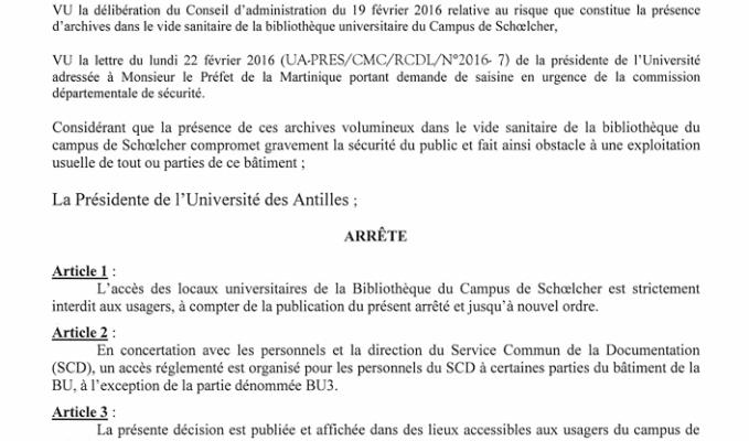 #ZayActu : La Bibliothèque Universitaire fermée jusqu'à nouvel ordre