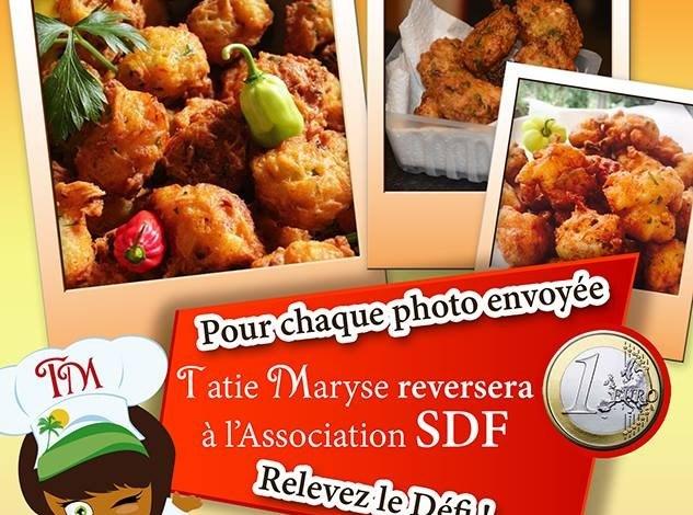 #ZayActu : Tatie Maryse reversera à l'Association SDF 1€ pour une photo d'accras envoyée   ZayRadio.org