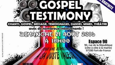 Photo of Gospel Testimony à l'Espace 90 ce dimanche 21 août 2016