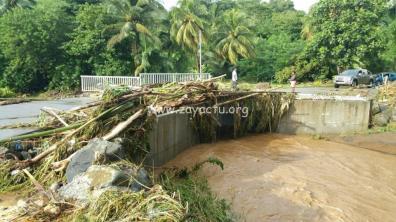 La pluie a fait beaucoup de dégâts à Sainte-Marie hier soir 6