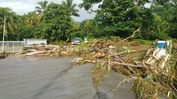 La pluie a fait beaucoup de dégâts à Sainte-Marie hier soir 7