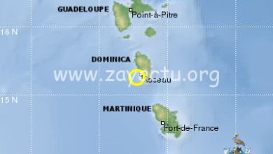 Photo of Un séisme de magnitude 5.5 ressenti en Martinique