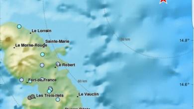 Photo of Un séisme de magnitude 4,7 enregistré en Martinique