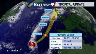 Photo of L'Irlande sous la menace d'un ouragan de catégorie 3 Ophélia