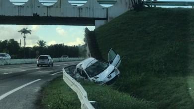 Photo of Spectaculaire accident de la route à Carrère au Lamentin