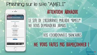 Photo of Attention phishing repéré sur le site de l'assurance maladie AMELI