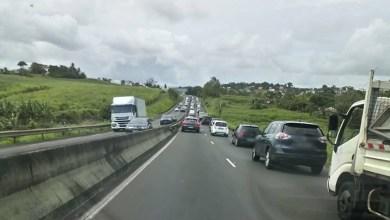 Photo of Embouteillage de Génipa jusqu'au pont de la Lézarde au Lamentin