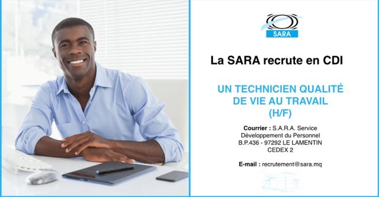 Photo of La SARA recrute en CDI un technicien qualité de vie au travail (H/F)