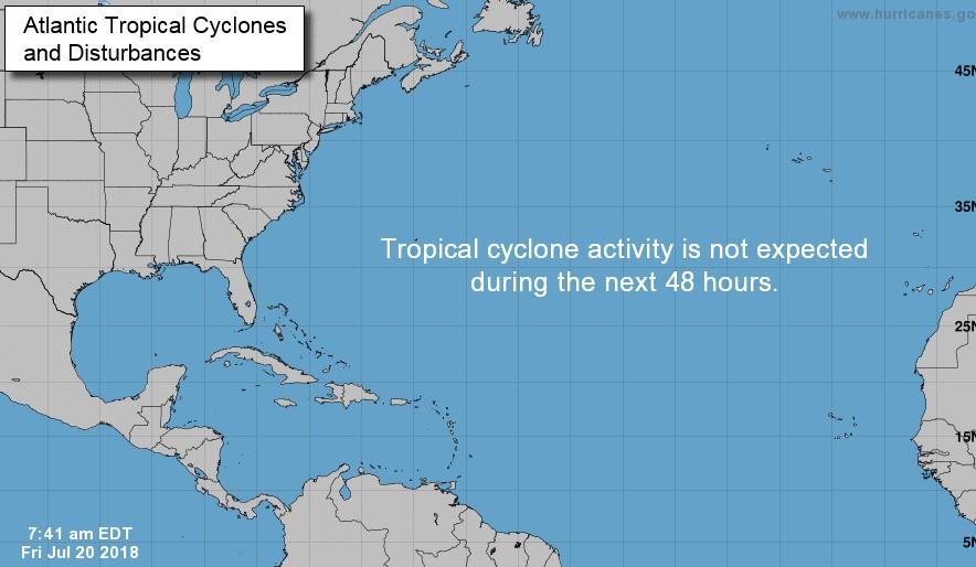 Phénomène cyclonique : le bassin atlantique reste très calme