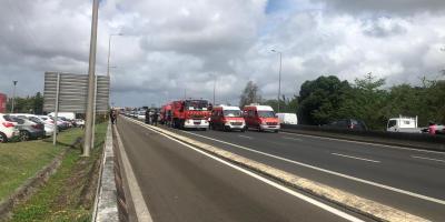 Opération Molokoy sur l'autoroute des pompiers. Images d'archives.