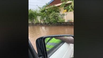 Photo of Petite montée des eaux au quartier Mansarde au Robert (VIDÉO)