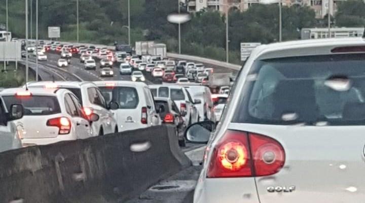 embouteillage autoroute direction Lamentin