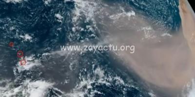 Brume de sable en approche des Petites Antilles