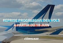 Photo de Reprise progressive des vols transatlantiques de Corsair dès le 18 juin 2020