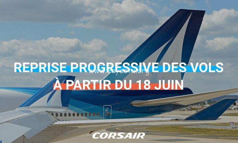 Reprise progressive des vols de Corsair à partir du 18 juin 2020.