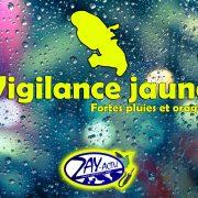 La Martinique en vigilance jaune pour fortes pluies et orages.