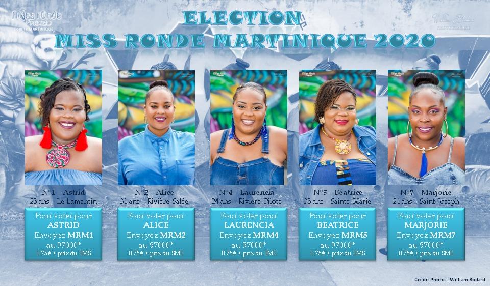 La 9e édition de l'élection de Miss Ronde Martinique se tiendra le 3 octobre. 5 candidates sont en lice
