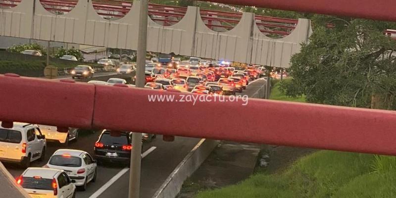 Accident sur l'autoroute. Photo : réseaux sociaux.